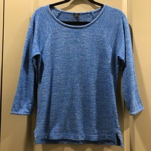 J Crew Blue Featherweight French Terry Sweatshirt